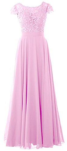 MACloth - Robe - Trapèze - Manches Courtes - Femme Rose - Rose