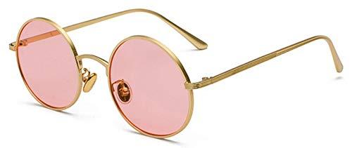 Sonnenbrille Frauen Sonnenbrille Mit Roten Linsen Gold Mit Rosa Round Metal Frame Vintage Retro Gläser So Für Männer Unisex Geburtstag Geschenke