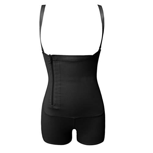 FENTINAYA Damen-Rei?Verschluss-Seiten-K?rperformer-Bauch-Kontrollunterbrust-Bodysuit-Unterw?sche, die K?rperformer abnimmt -
