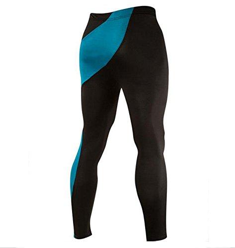 Hippolo Personalità Irregolare Cucitura Uomini Disegno Uomini Stretti Pantaloni stretti corpo (L, Lago Blu) Lago Blu