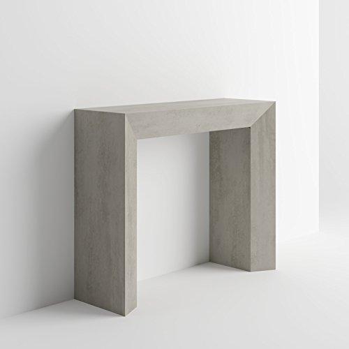 mobilifiver–Judith, hormigón, mesa consola en madera 90x 30x 75cm