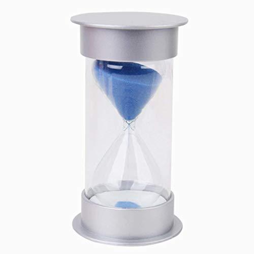 Xiton 10 Minuten Sanduhr Sanduhr Sand Timer Silber Deckel blau Sand - Relojes Juegos De