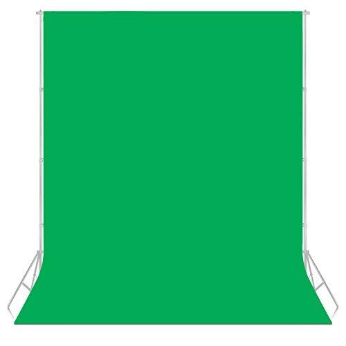 PHOTO MASTER 6x9piedi/1,8x2,8m Sfondo Pro Pieghevole di 100% Mussola Fondale per Fotografia, Video e Televisione - Verde