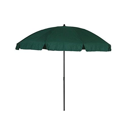 Greemotion 127166 ombrellone tondo parasole spiaggia da giardino, verde, 240x240x238 cm