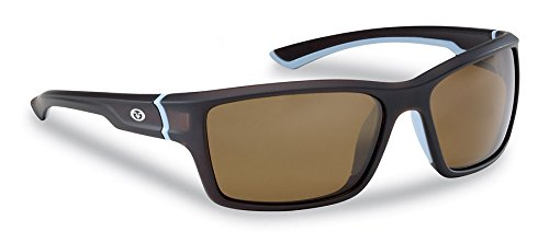 Flying Fisherman Cove Polarisierte Sonnenbrille mit matt Kristall Frames, Unisex, Tobacco Amber Lens