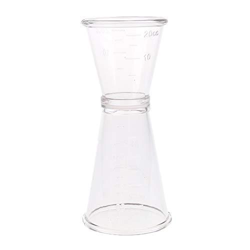 MagiDeal Doppel Cocktail Unze Tasse Bier Wein Messbecher Becher Bar Supplies, Plastik, durchsichtig