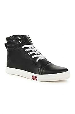 Steemo Women's Black Rubber Sneakers (STM6602_Black_4) - 4 UK