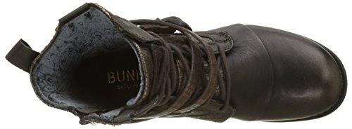 BUNKER Damen Kol Biker Boots Marron (Moro)