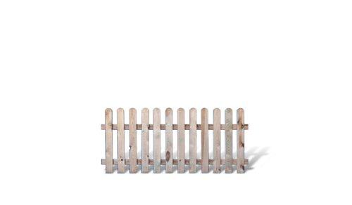 meingartenversand.de Preiswerte Gartenzaun/Vorgartenzaun Elemente im Maß 180 x 80 cm (Breite x Höhe) aus Kiefer/Fichte Holz, druckimprägniert Günstig & Gut