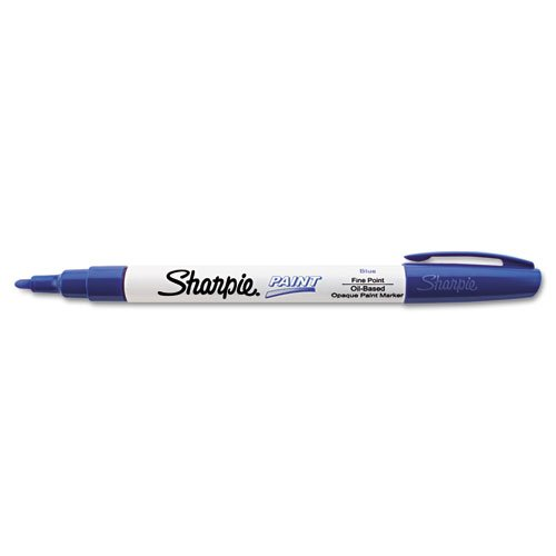 sharpier-permanent-paint-marker-fine-point-blue-sold-as-1-each-oil-based-opaque-paint