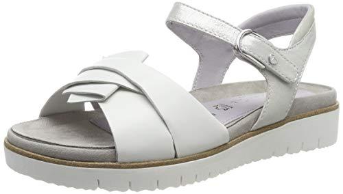 Tamaris 1-1-28327-22, Sandali con Cinturino alla Caviglia Donna, Bianco (White 100), 36 EU