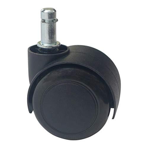 5 Ruedas giratorias de Poliuretano Negro para Silla de Oficina (50 mm...