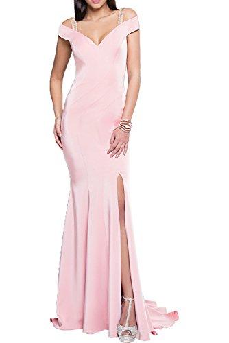 Milano Bride Weinrot Elegant Meerjungfrau Traegerkleider Langes Damen Abendkleider Partykleider Promkleider Neu Rosa