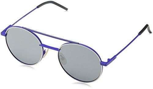 Fendi ff 0221/s t4 pjp, occhiali da sole uomo, blu (bluette/black fl), 52