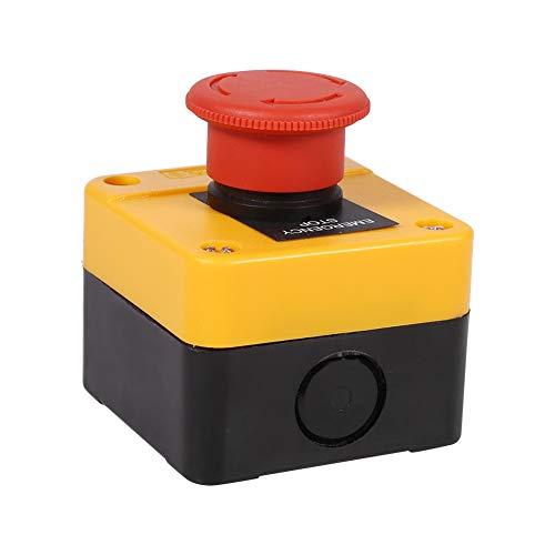 Descripción:Nuestro interruptor de parada de emergencia está hecho de material plástico y metal de alta calidad, seguro y duradero.4 terminales de tornillo, 1 tipo de contacto NO + 1 NC DPST, interruptor de botón de parada de emergencia de seta roja....