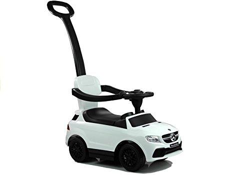 Lean Toys Rutscherfahrzeug mit Schiebestange Weiß
