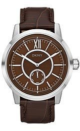 DKNY Cuir Collection Marron Cadran Montre Homme NY1521