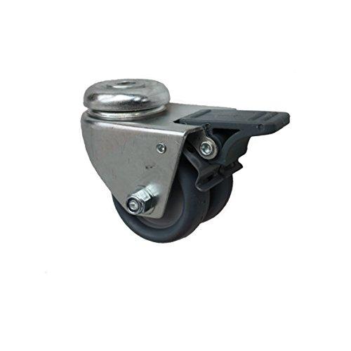 50 mm Apparaterolle Möbelrolle Transportrolle als Lenkrolle Totalstop Rückenlochbefestigung