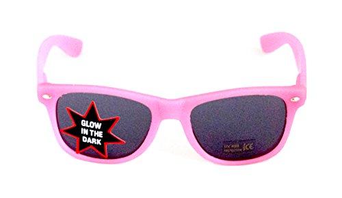 Nerd-Brille leuchtend Pink Sonnen-Brille 15cm Damen Unisex Panto-Brille Lese-Brille Wayfarer Klar-Glas Nerd-Brille Geek-Brille Sun-Glasses Glow (Kostüme Bunny Nase)