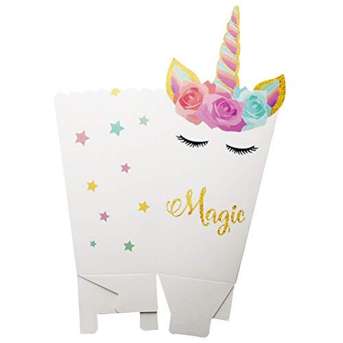 Toyvian 24 Stück Einhorn Popcorntüten Popcorn Boxen Papiertüten Tüte Schachtel Tasche für Snack Süßigkeiten Kinder Party Geburtstag Hochzeit Baby Duschen Babyparty