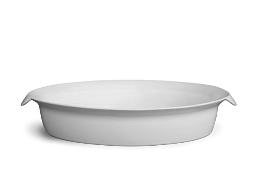 Sowden 33 x 24. 5 x 6 cm Cookery Oval Roaster, White