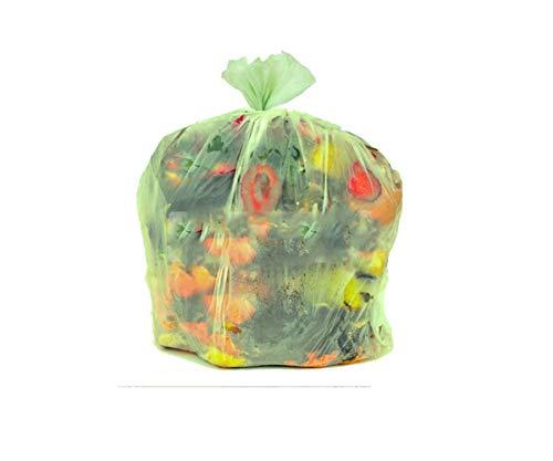 Sacchi compostabili biodegradabili per raccolta umido-organico cm 70x110 (110 litri) - scatola da 100 sacchetti