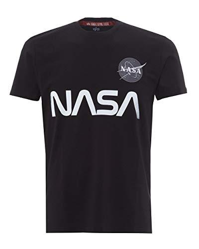 Alpha Industries NASA Reflective T-Shirt Schwarz L