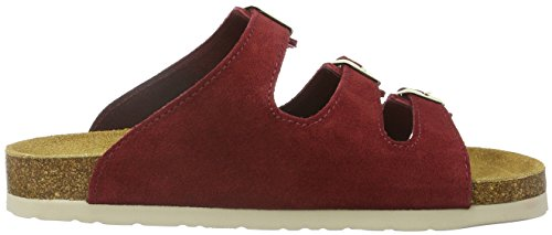 Dr. Brinkmann 700861, Ciabatte Donna Rosso (Rot (Wein/Camel))