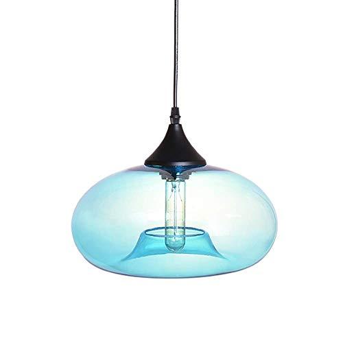FTLY Moderne kreative ovale Glas bar Restaurant deckenpendelleuchte e27 europäischen Metall Eisen Haushalt dekorative kronleuchter einzigen Kopf Cafe esszimmer Studie Beleuchtung haning Lampe