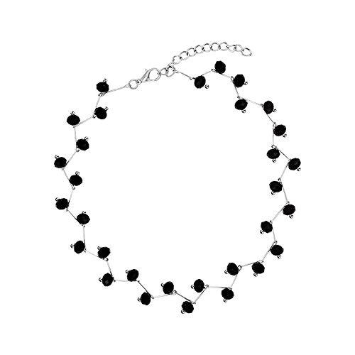 Licxcx Ketten,Sexy, Schwarzer Kristall, Halsreif, einfach, vielseitig, Schlüsselbein -
