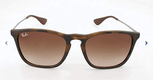 RAYBAN Unisex Sonnenbrille Rb4187 Gestell (Havana), Gläserfarbe: braun verlauf 856/13), Medium (Herstellergröße: 54) (Lg Sonnenbrille)