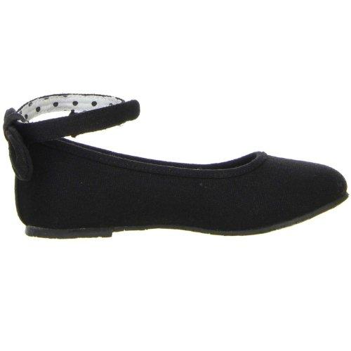 ConWay Mädchen Ballerinas schwarz Schwarz kFSppScET