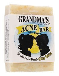 Remwood Products Co. - Grandma's Pure & Natural Acne Bar With Thyme For Oily Skin - 4 oz. by Remwood Products Co