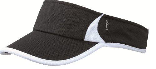 premium-sports-sun-visor-running-tennis-golf-cap-hat-12-colours-mb6545-black-white