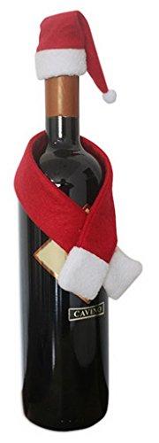 EOZY Vino Cubierta de Botella Bolsas de Navidad Cena Mesa Decoración Santa Claus Navidad Rojo