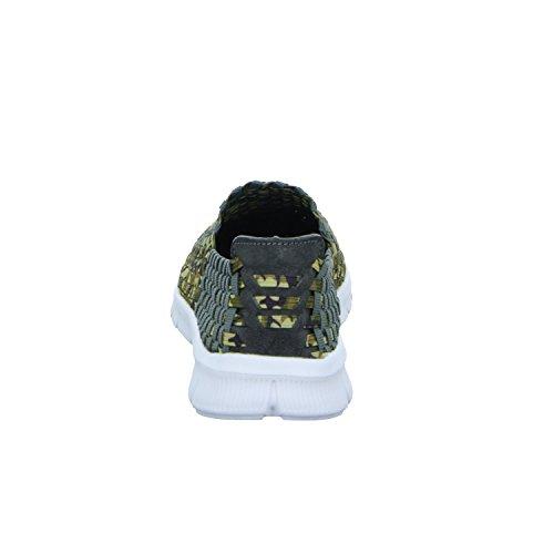 Sneakers 162YS-20150428-3 Damen Slipper Halbschuh sportlicher Boden Grün (Grün)