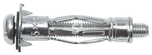 Schössmetall Metall-Hohlraumdübel mit Linsenkopfschraube M5 x 43,5 mm Stahl 100 Stück