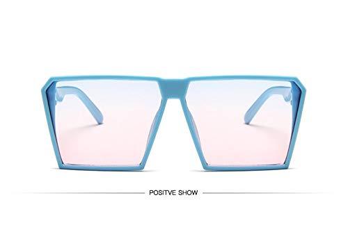 WSKPE Sonnenbrille,Sonnenbrille Mädchen Junge Kinder Sonnenbrille Mit Rechteckigem Rahmen Uv400 Brillen Fashion Kids Eyewear Blauer Rahmen Rosa Linse