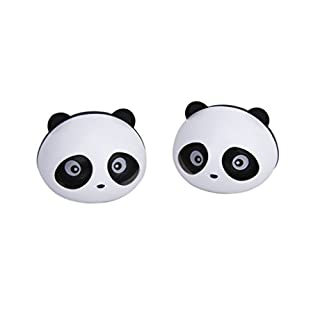 ANKKO 2 Stück Schöne Panda Parfüm Diffusor Duft Auto Lufterfrischer (Schwarz)