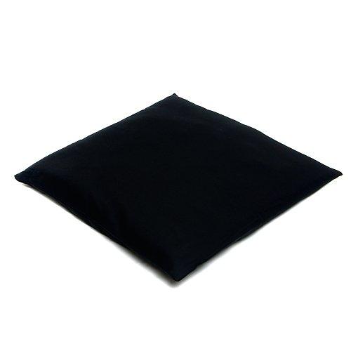 Coussin de méditation plat/Zabuton - 80 x 80 cm Made in Germany, 80 x 80 x 7 cm - Housse : 100 % coton - Rembourrage : 60 % laine vierge, 30 % fibres de kapok et 10 % polyester - Housse lavable en machine 40ºC max., noir