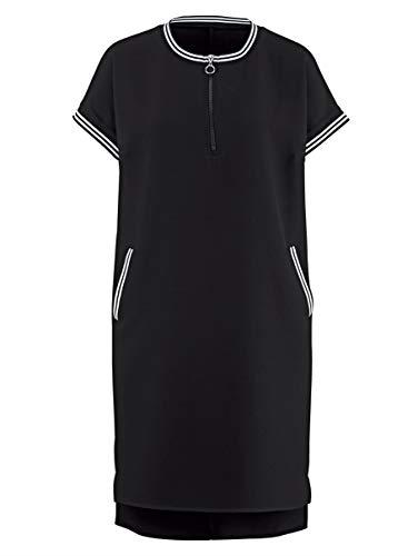 Alba Moda Damen Kleid Athleisure Schwarz 44