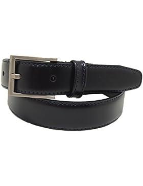 VAELLO Cinturón básico de piel para vestir con forro de piel de excelente calidad, para niño