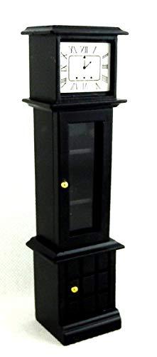 Eine Tür Curio (Melody Jane Puppenhaus Schwarz Großvater Curio Uhr Miniatur 1:12 Holz Flur Möbel)