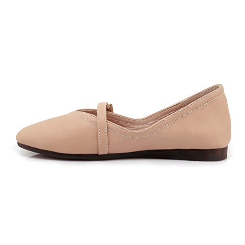 Chaussures femme HWF Chaussures pour Femmes Chaussures Simples en Cuir Femme Flat Peas College Chaussures Printemps