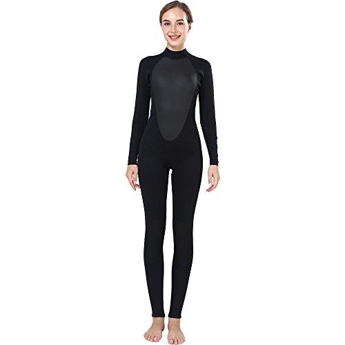Realon combinaison 3mm manches longues vagues combinaison de surf femmes moulant (X-Large)