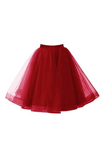 men 50er Vintage Retro Petticoat Unterrock Reifrock für Partykleid Abendkleid Cocktailkleid (Bambi Kostüm Für Kinder)