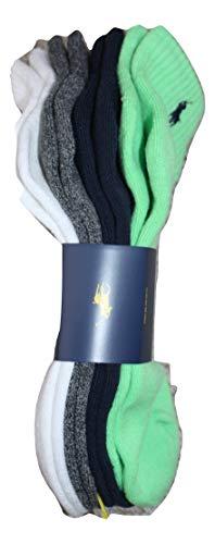 Polo Ralph Lauren - 4er Low Cut Athletic Socken - Einheitsgröße (EU 39 - EU 45) - Grün, Weiß, Grau, Marine