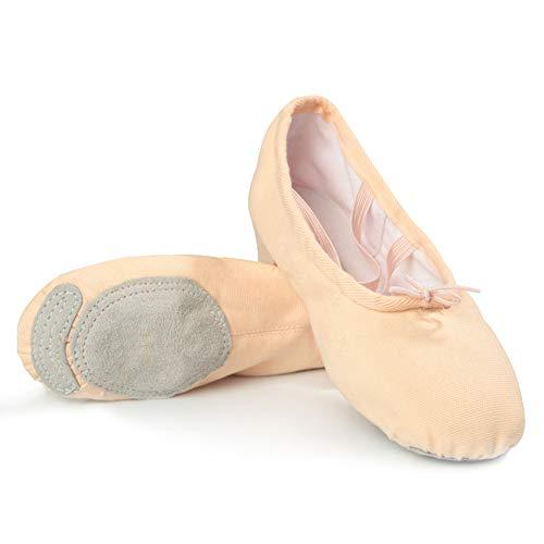 Ballettschuhe, Canvas Flats Gymnastic Yoga Schuhe für Mädchen Damen Damen in Kinder und Mann Jazz Lehrer Trainingsschuhe,Flesh,EU37=235mm (Kleinkind-schwarz Ballet Flats)