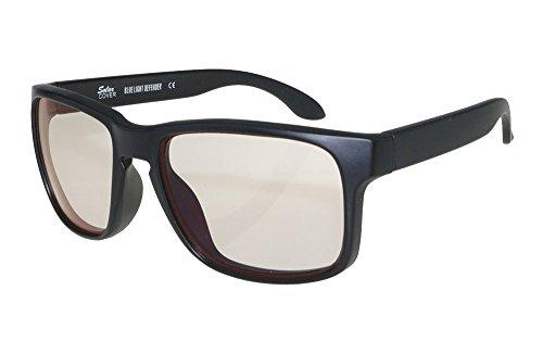 Blue-Blocker Brille für ermüdungsfreies Sehen (Blues Brille Schwarz)