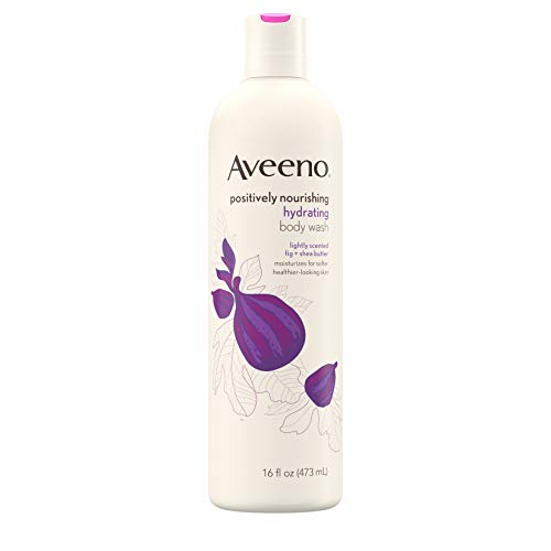Aveeno Active Naturals Positively Nourishing Hydrating Body Wash Fig + Shea Butter 472 ml (Körperwäschen) (Shea Butter Body Wash)